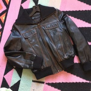 REACTION KENNETH COLE leather bomber